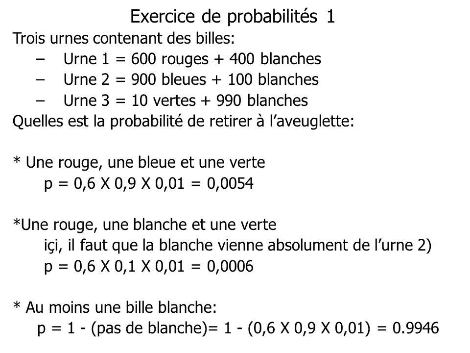 Exercice de probabilités 1