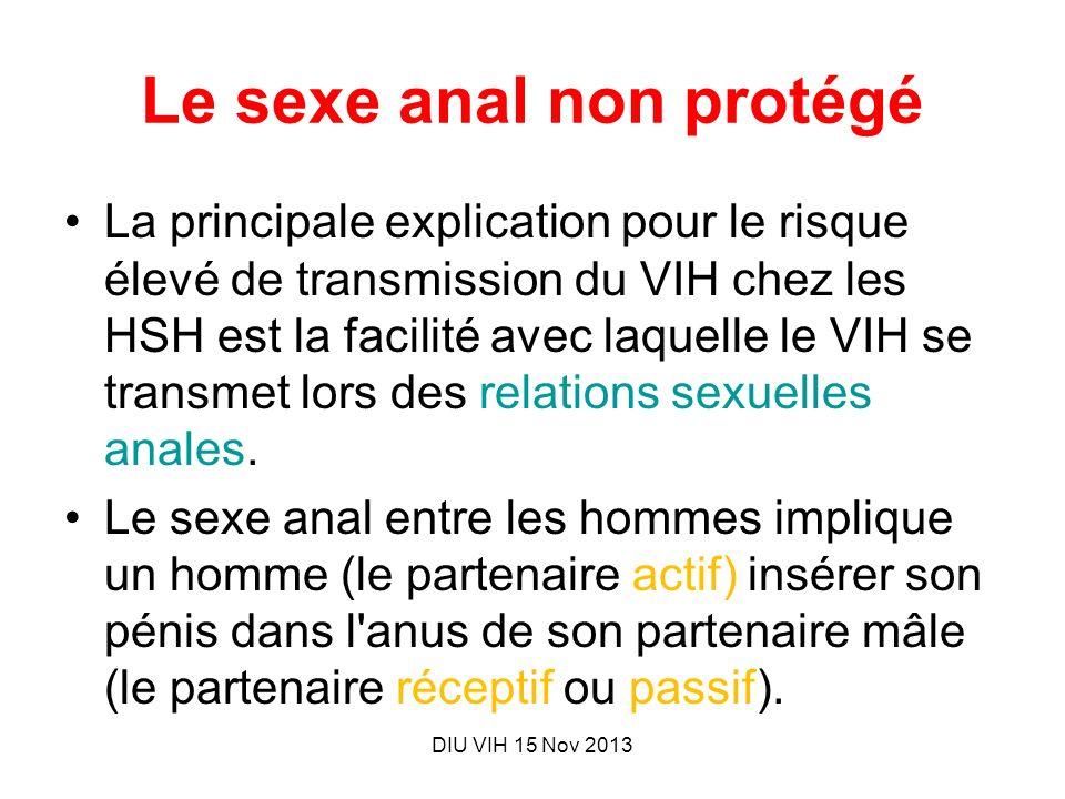 Le sexe anal non protégé