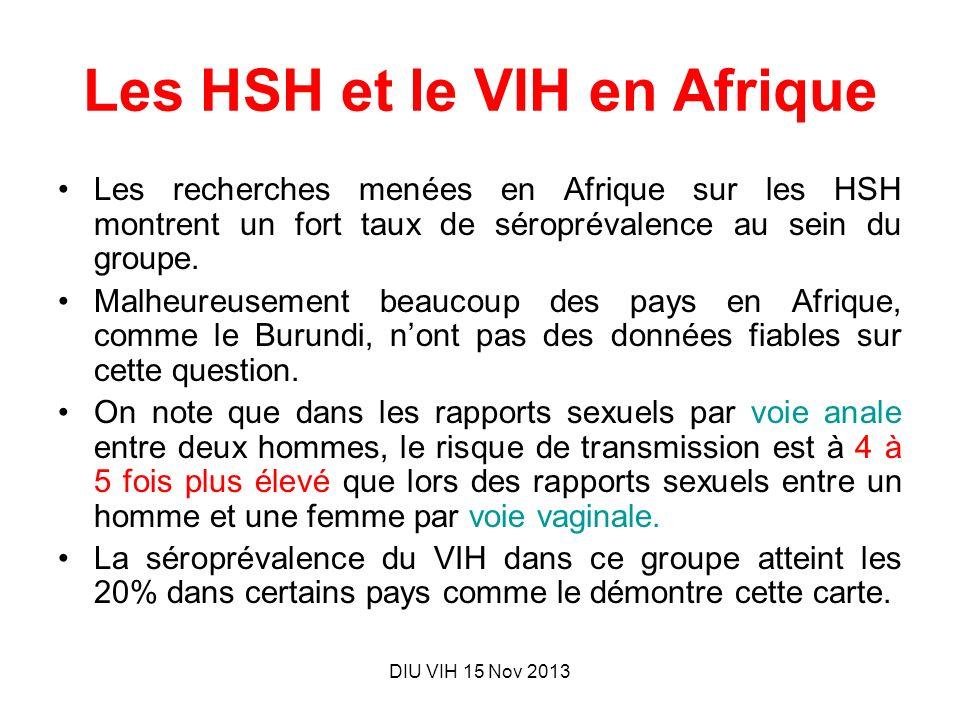 Les HSH et le VIH en Afrique