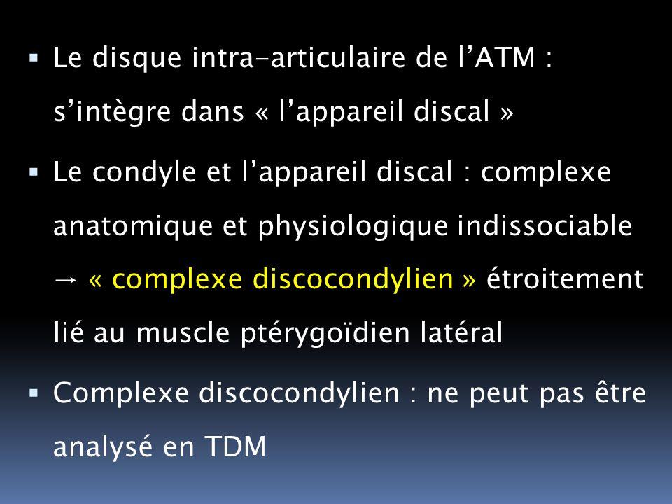 Le disque intra-articulaire de l'ATM : s'intègre dans « l'appareil discal »