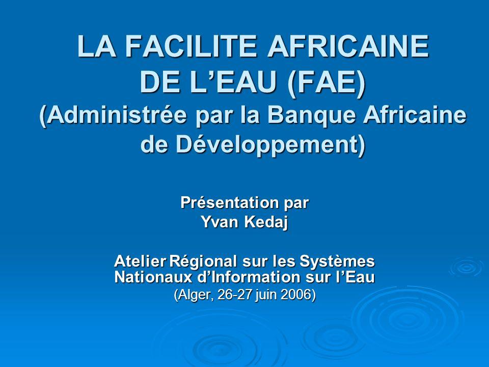 Atelier Régional sur les Systèmes Nationaux d'Information sur l'Eau