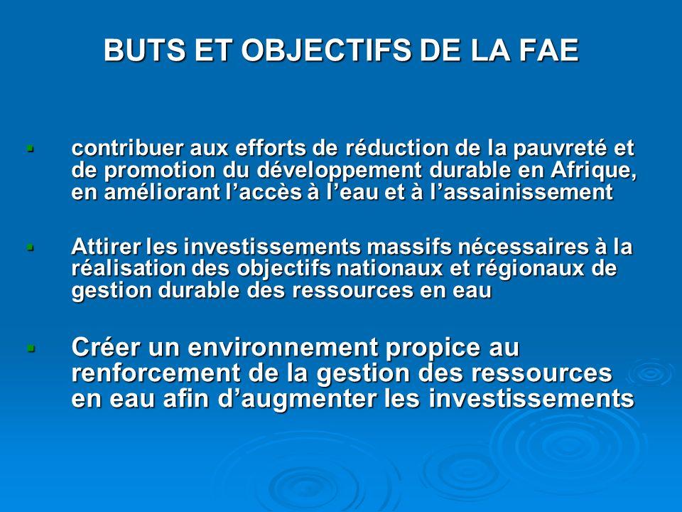 BUTS ET OBJECTIFS DE LA FAE