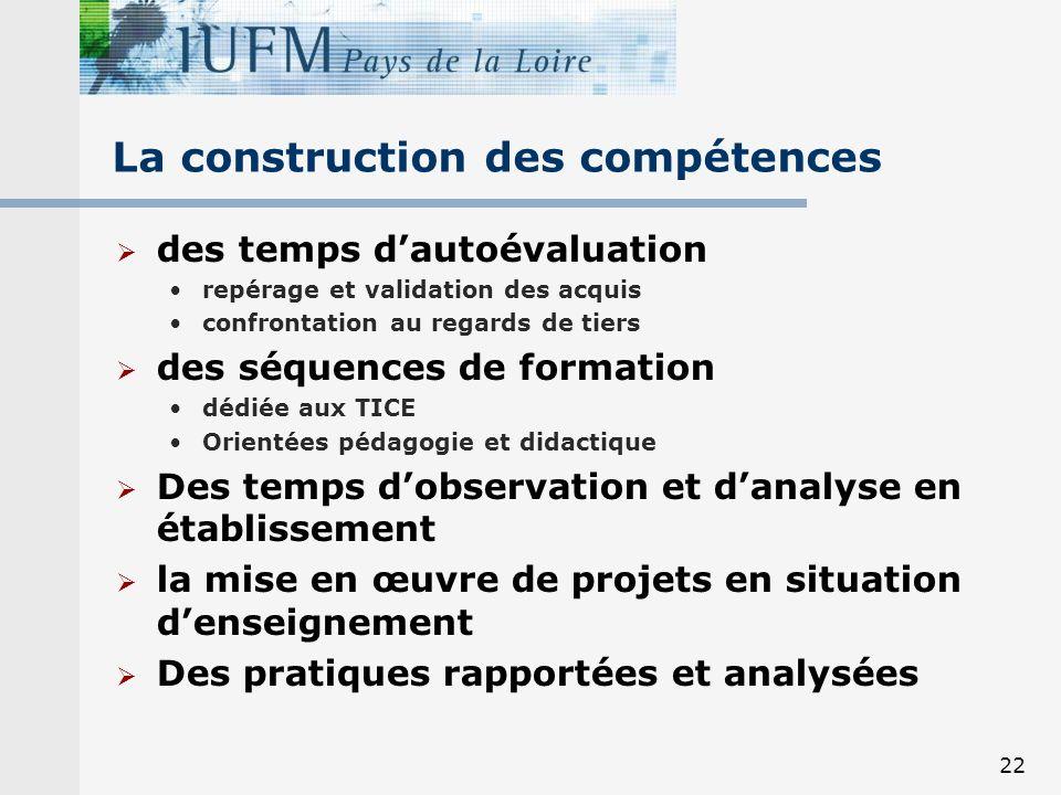 La construction des compétences