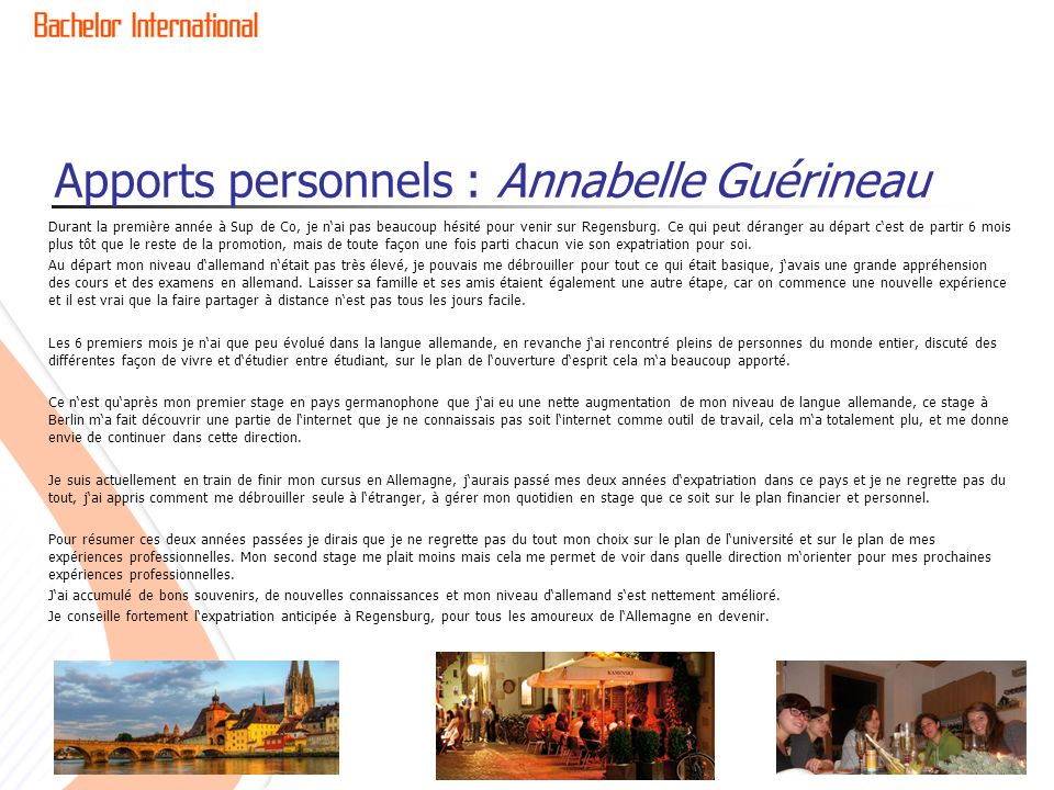 Apports personnels : Annabelle Guérineau