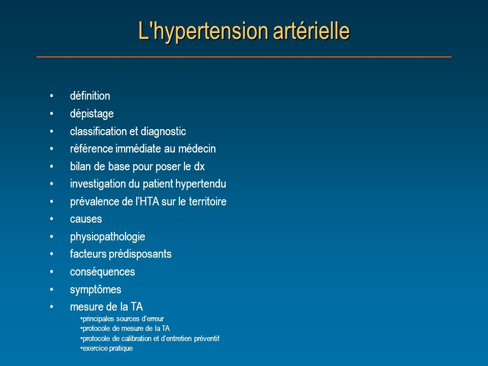 L hypertension artérielle