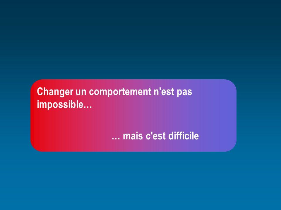 Changer un comportement n est pas impossible…