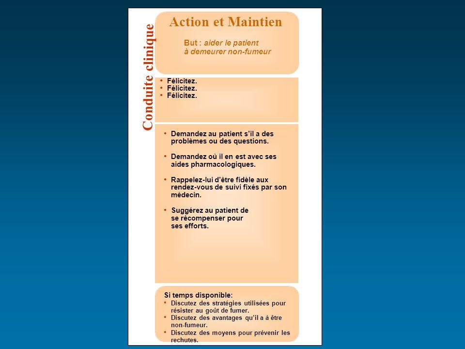 Action et Maintien Conduite clinique But : aider le patient