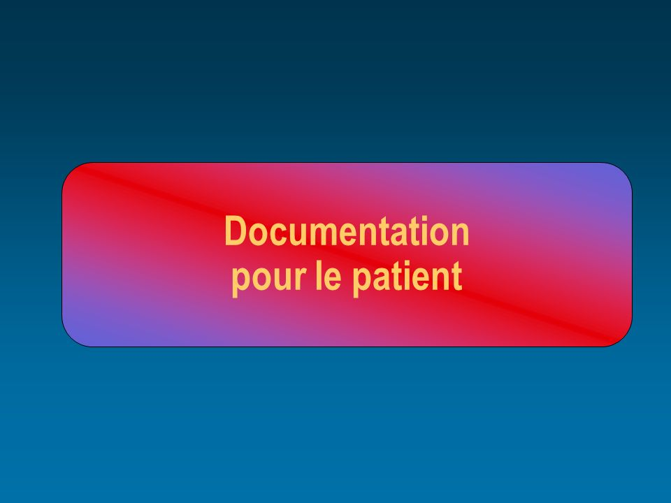 Documentation pour le patient