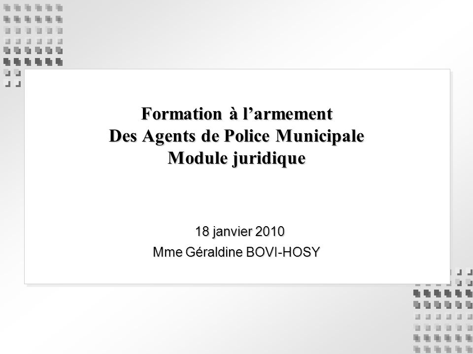 18 janvier 2010 Mme Géraldine BOVI-HOSY