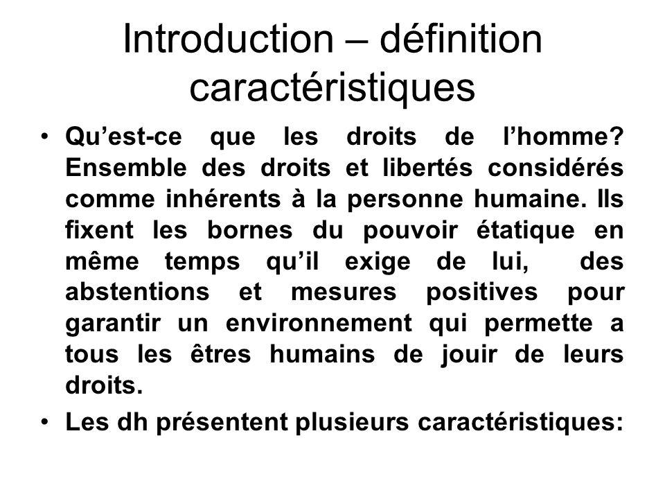 Introduction – définition caractéristiques