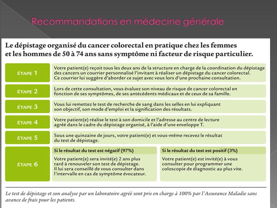 Recommandations en médecine générale