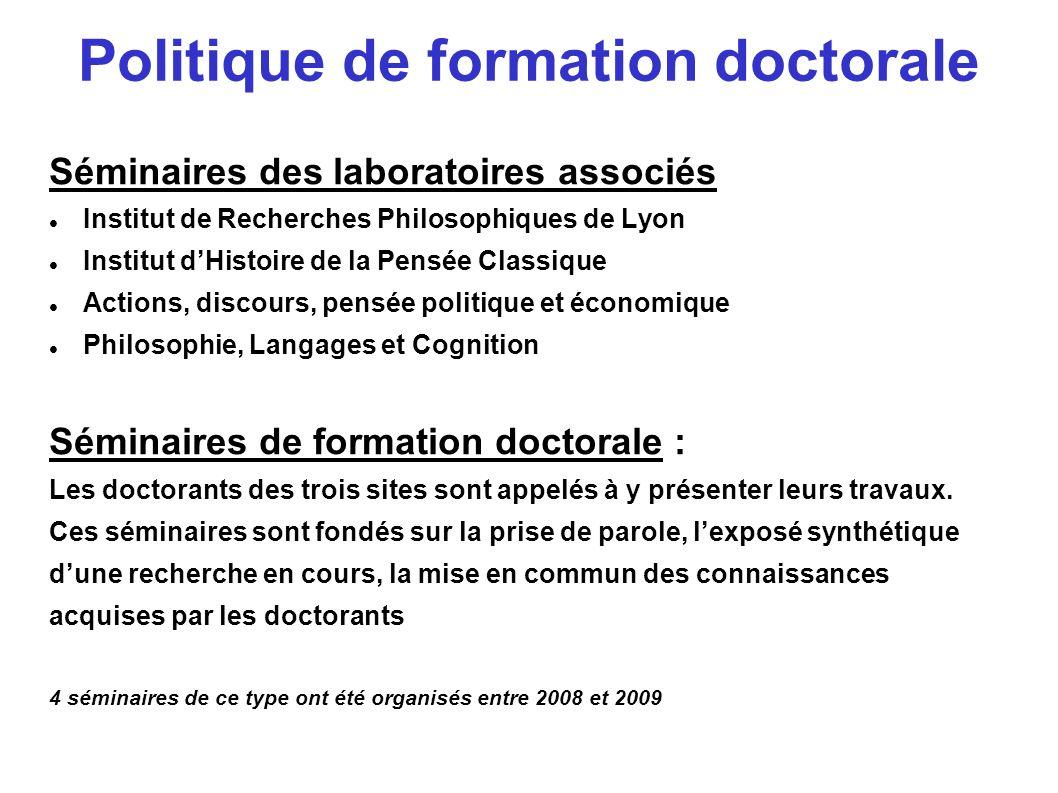 Politique de formation doctorale