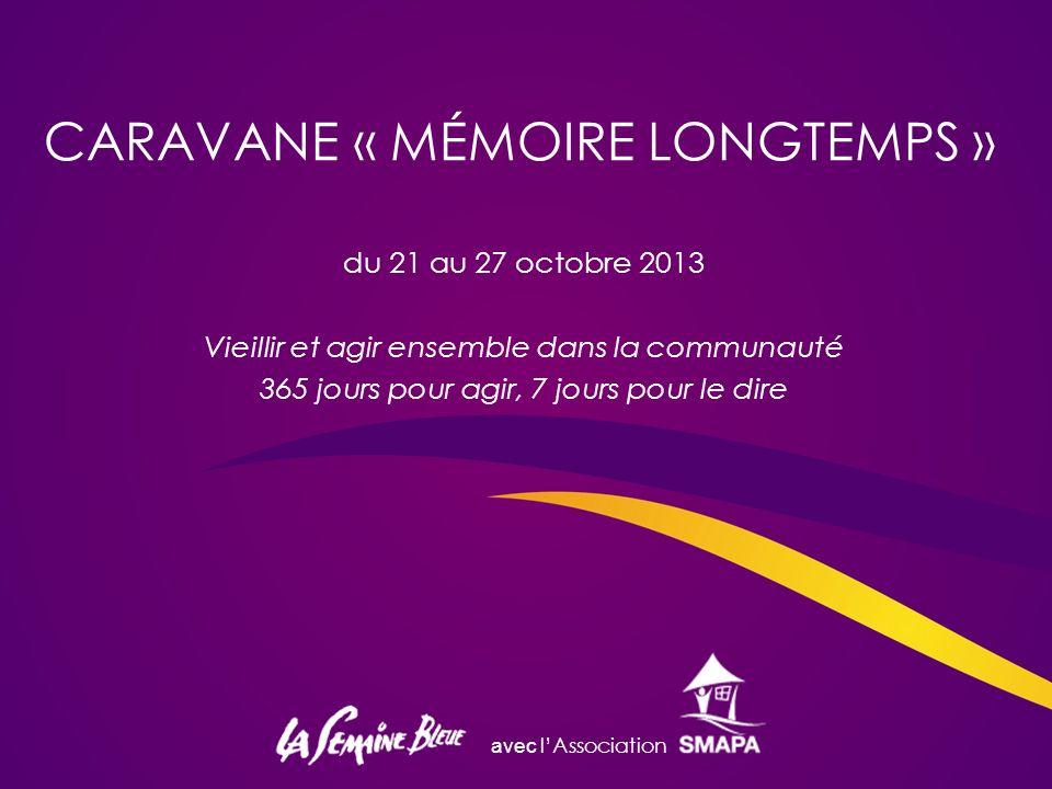 CARAVANE « MÉMOIRE LONGTEMPS »