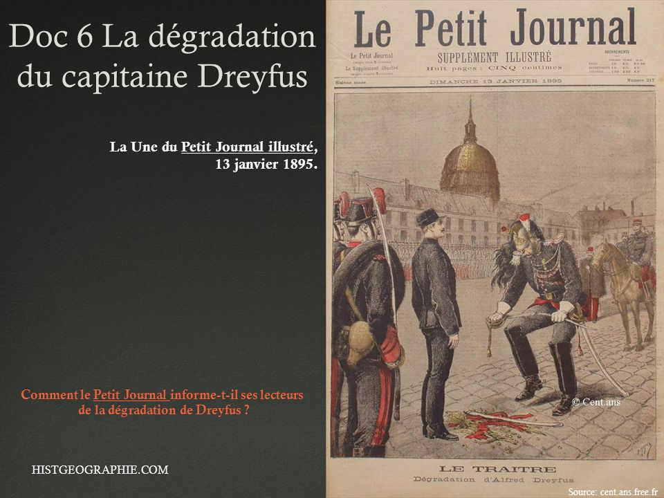 Doc 6 La dégradation du capitaine Dreyfus
