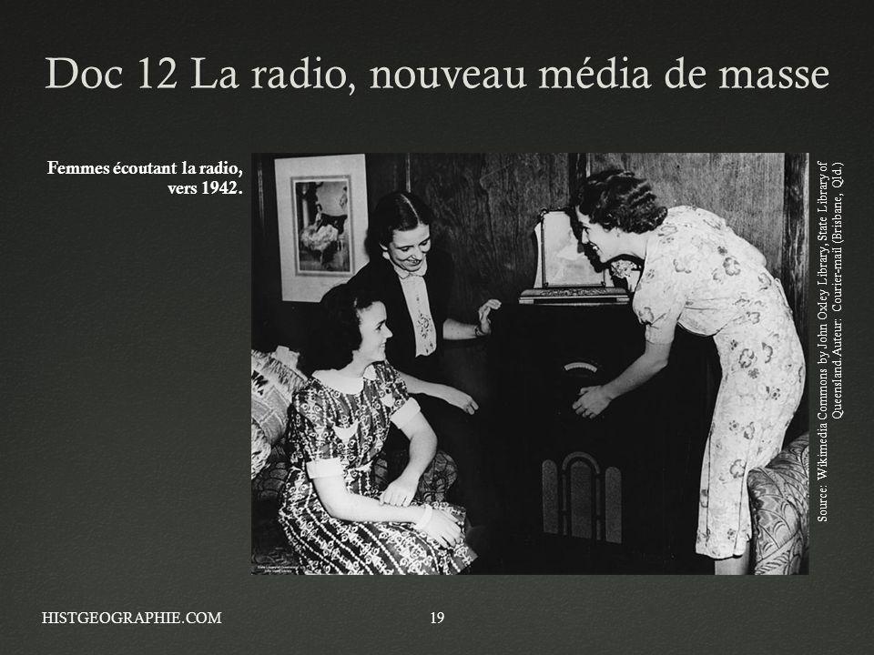 Doc 12 La radio, nouveau média de masse