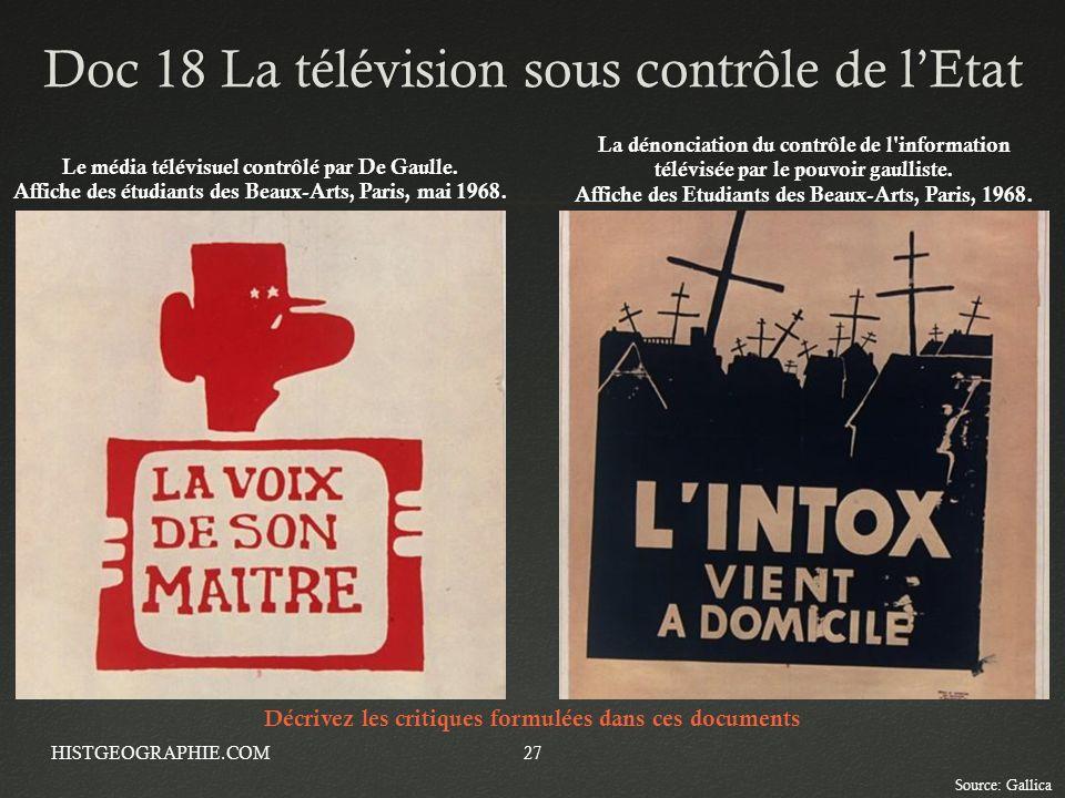 Doc 18 La télévision sous contrôle de l'Etat