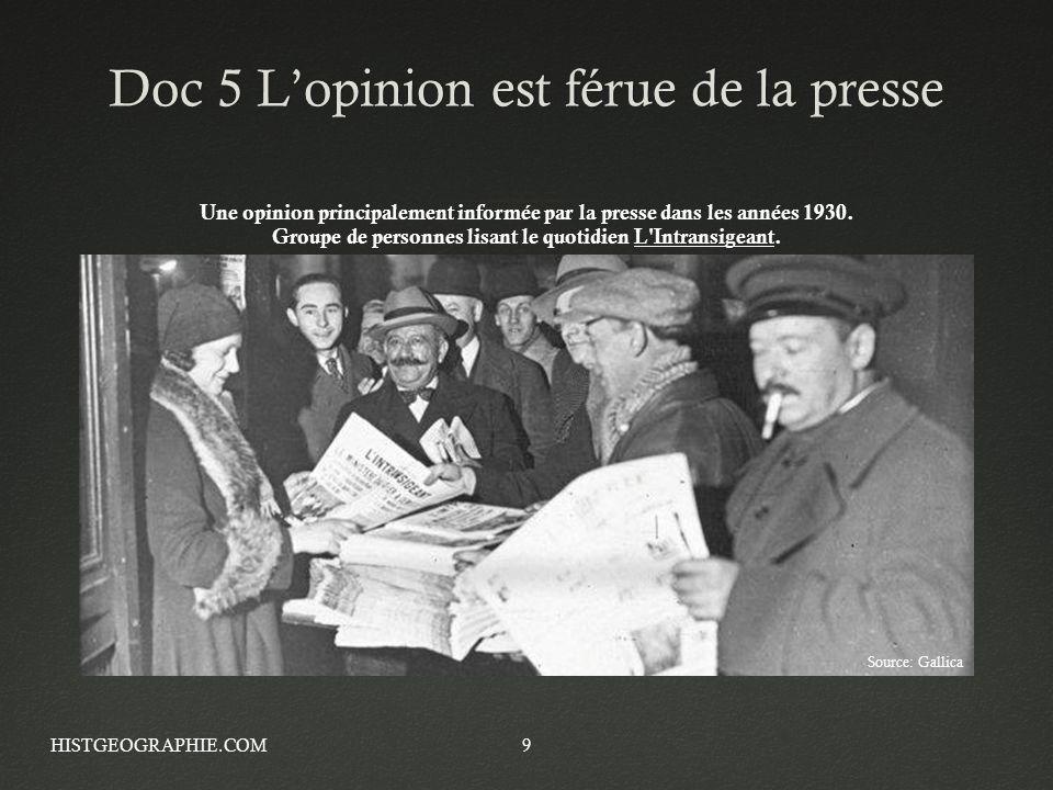 Doc 5 L'opinion est férue de la presse