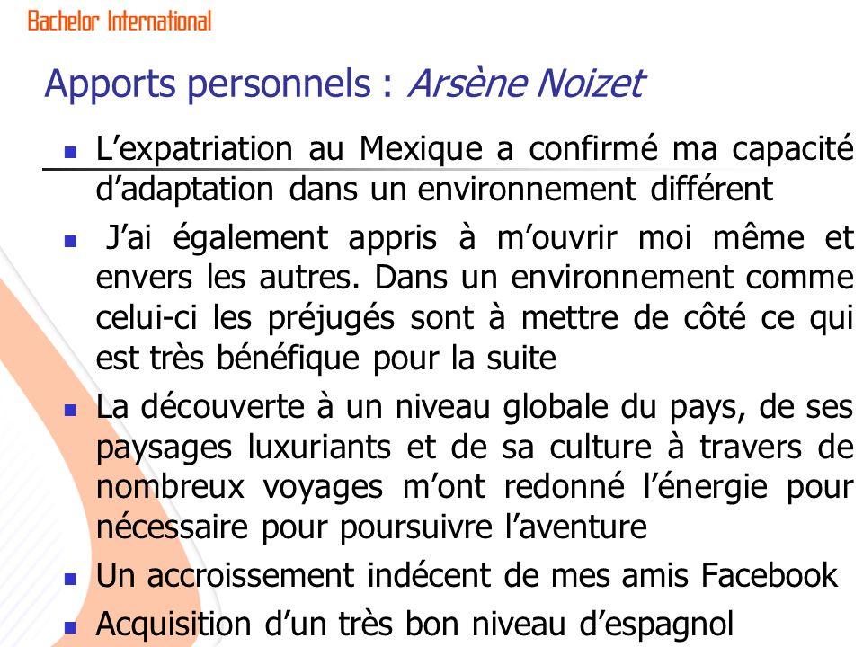 Apports personnels : Arsène Noizet