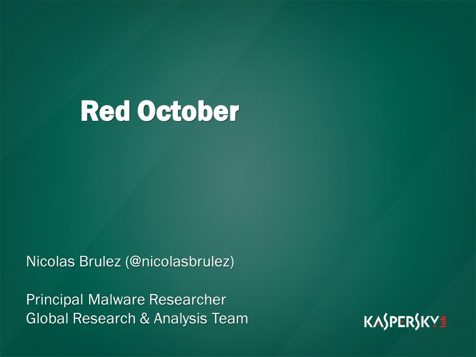 Red October Nicolas Brulez (@nicolasbrulez)