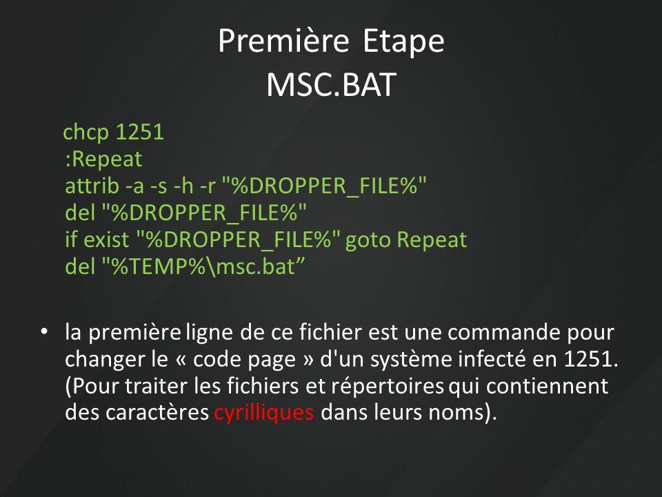 Première Etape MSC.BAT