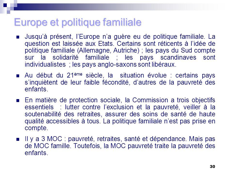 Europe et politique familiale
