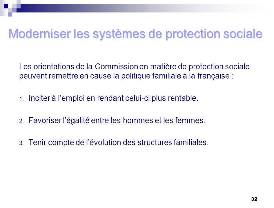 Moderniser les systèmes de protection sociale
