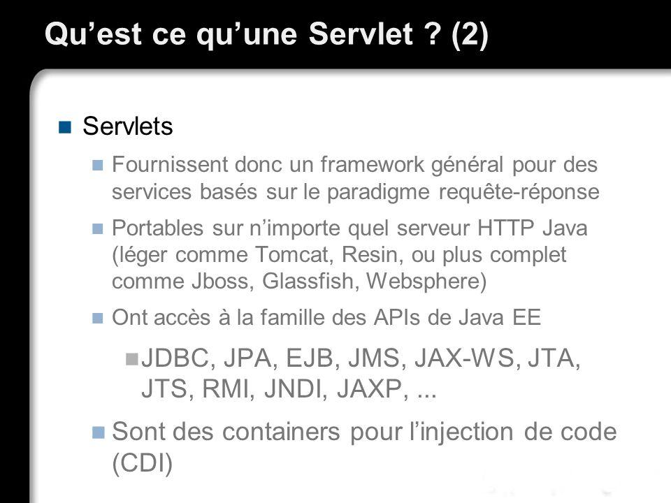 Qu'est ce qu'une Servlet (2)