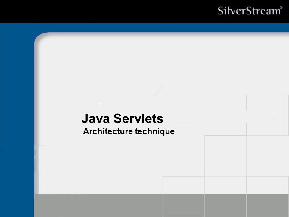 Java Servlets Architecture technique * 07/16/96