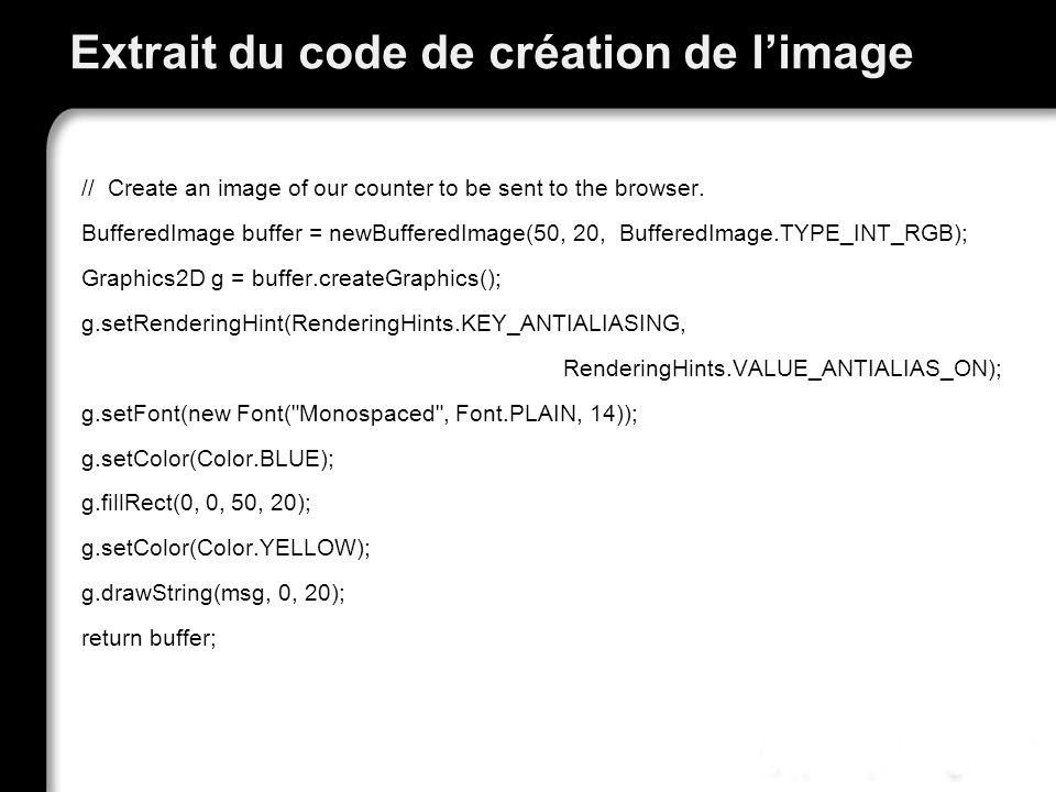 Extrait du code de création de l'image