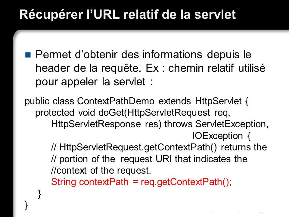 Récupérer l'URL relatif de la servlet