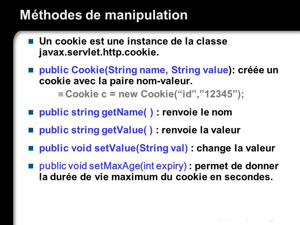 Méthodes de manipulation