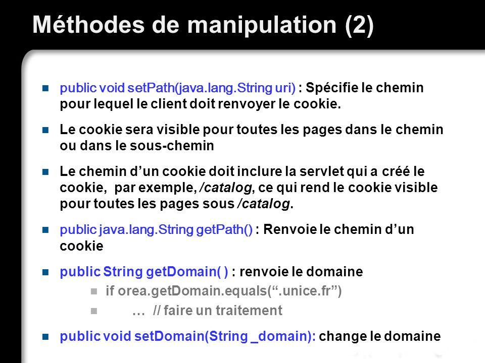 Méthodes de manipulation (2)