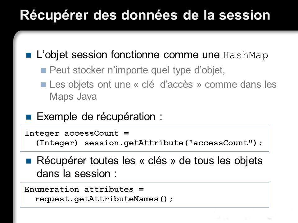 Récupérer des données de la session