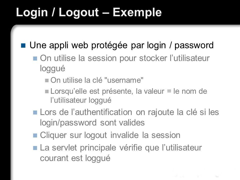 Login / Logout – Exemple