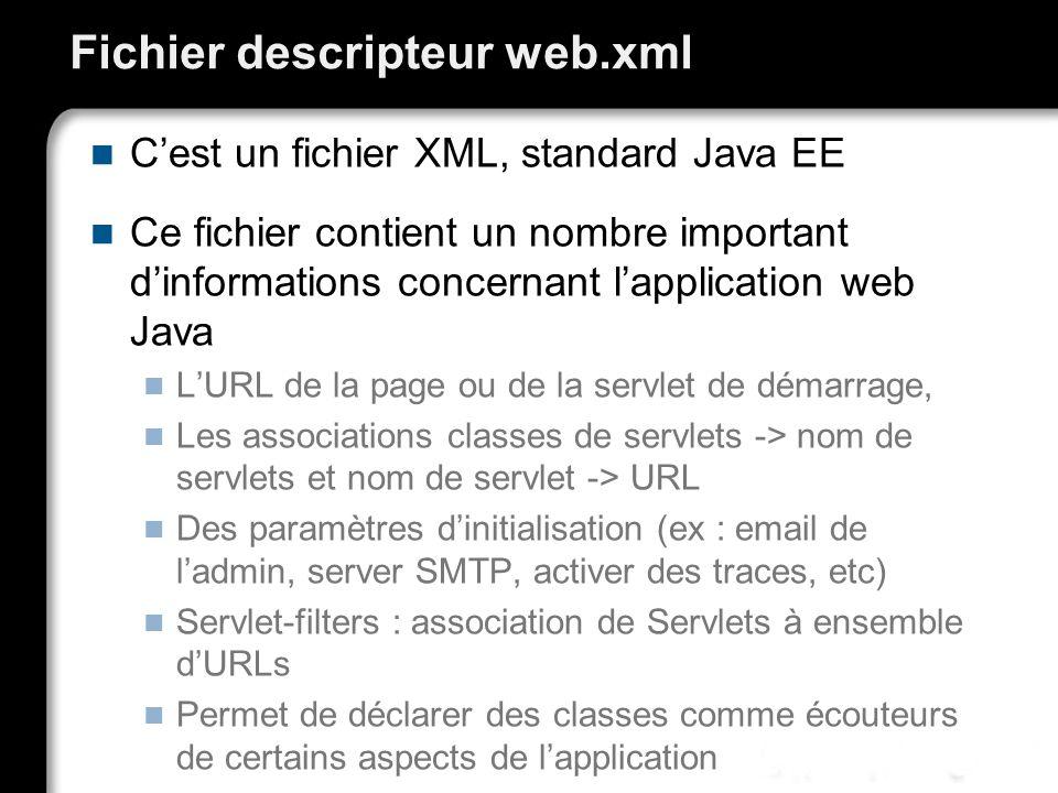 Fichier descripteur web.xml