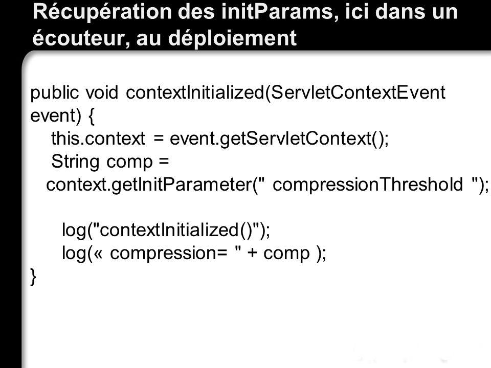 Récupération des initParams, ici dans un écouteur, au déploiement