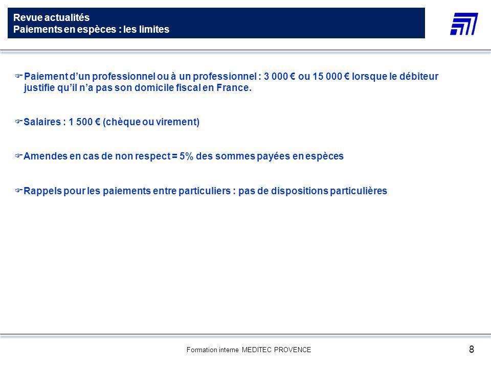 Revue actualites redressement judiciaire ppt t l charger - Plafond paiement especes entre particuliers ...