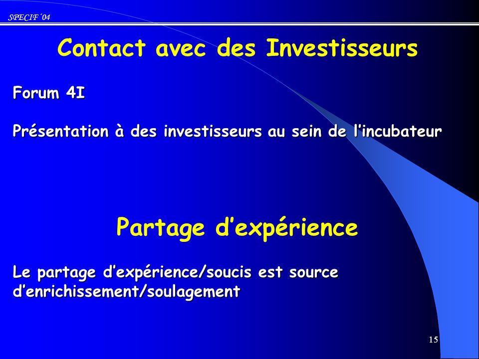 Forum 4I Présentation à des investisseurs au sein de l'incubateur