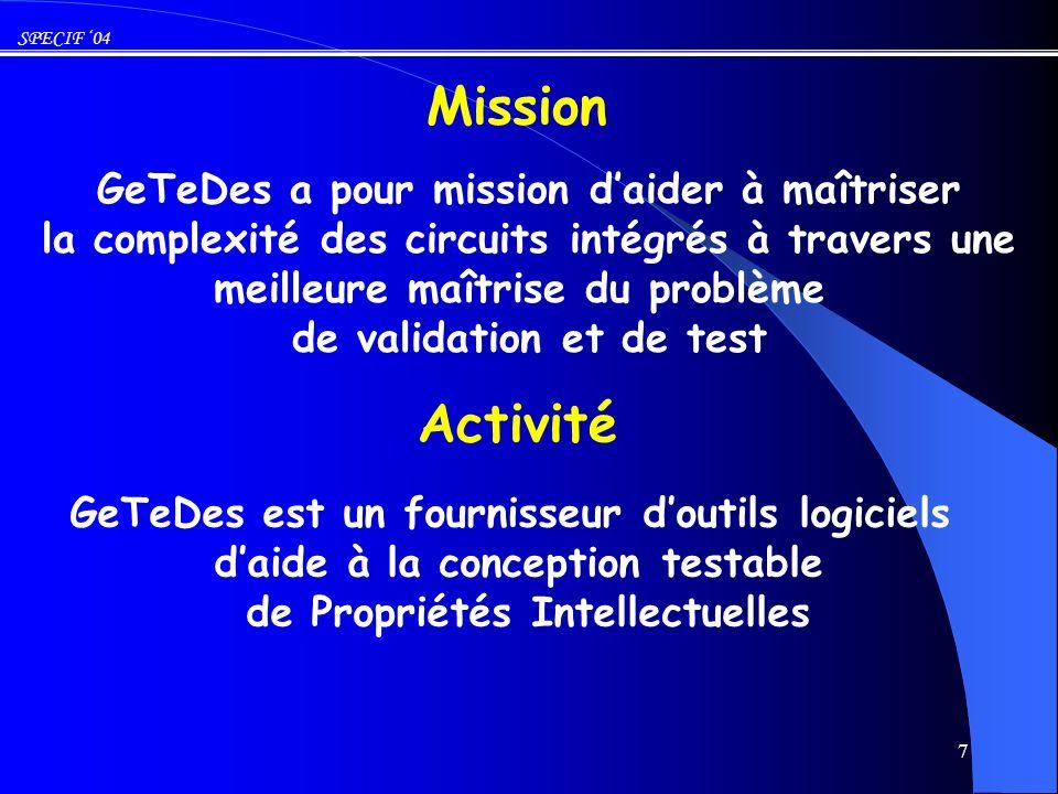 Mission Activité GeTeDes a pour mission d'aider à maîtriser