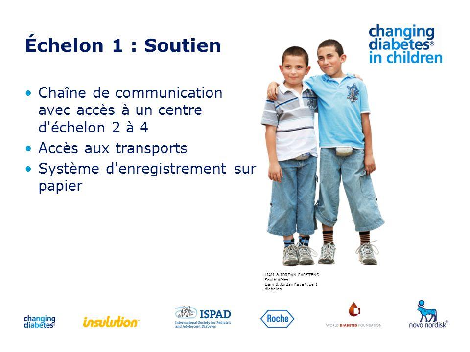 Échelon 1 : Soutien Chaîne de communication avec accès à un centre d échelon 2 à 4. Accès aux transports.