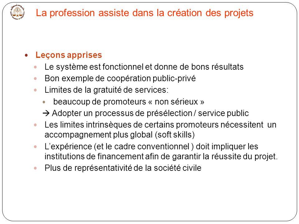 La profession assiste dans la création des projets