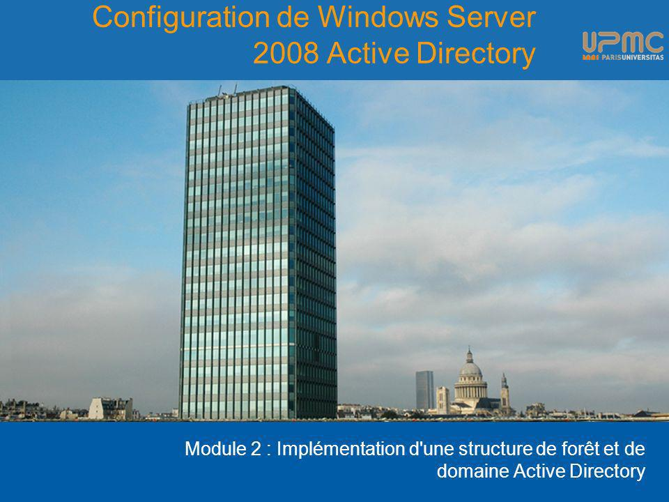 Configuration de Windows Server 2008 Active Directory