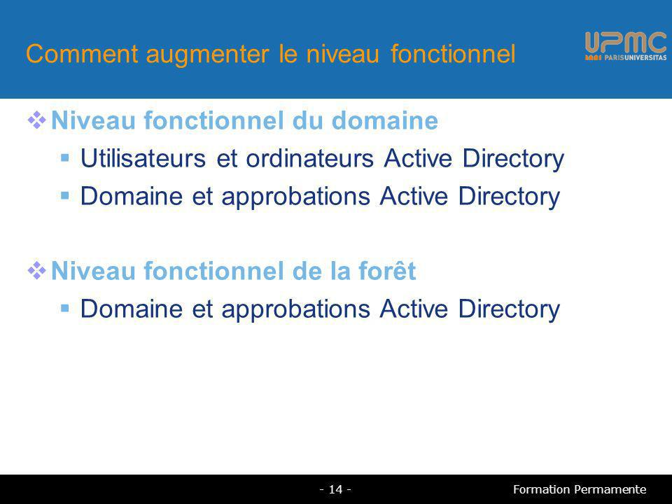 Comment augmenter le niveau fonctionnel