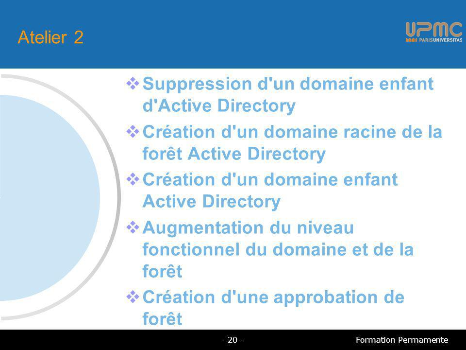Suppression d un domaine enfant d Active Directory