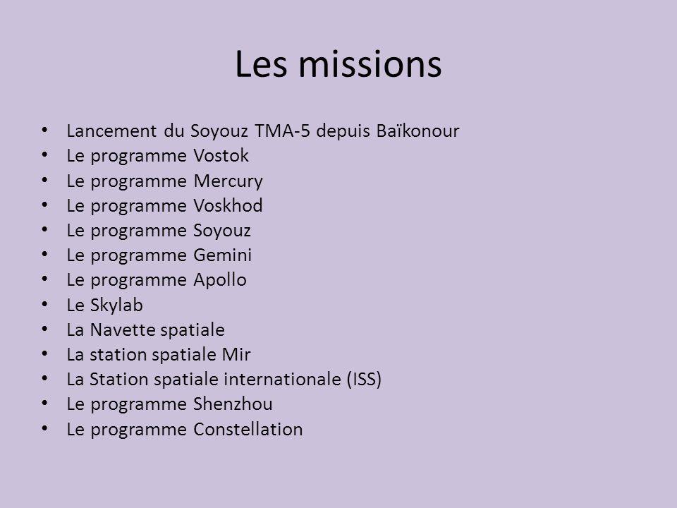 Les missions Lancement du Soyouz TMA-5 depuis Baïkonour