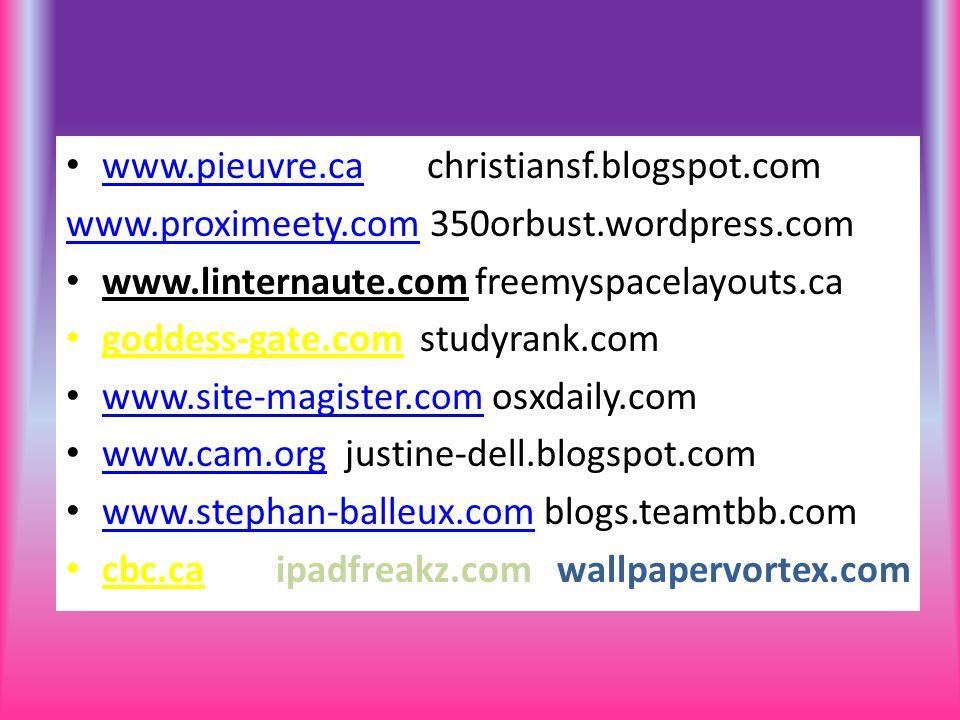 www.pieuvre.ca christiansf.blogspot.com