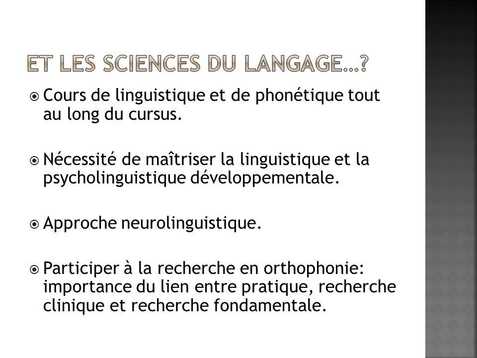 Et les sciences du langage…