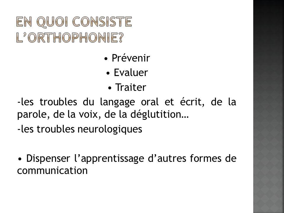 En quoi consiste l'orthophonie