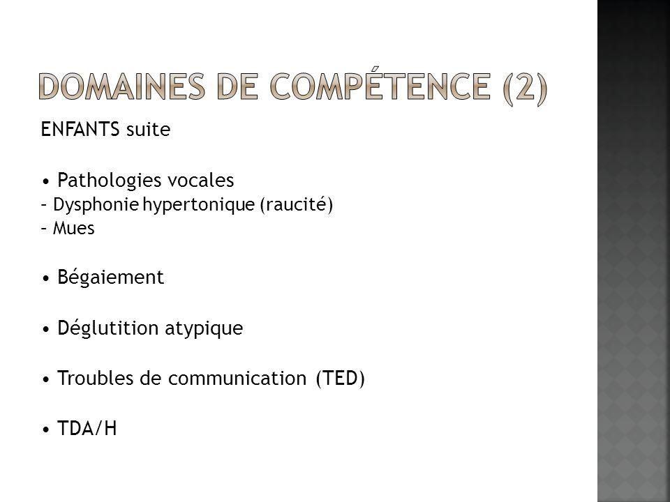 Domaines de compétence (2)