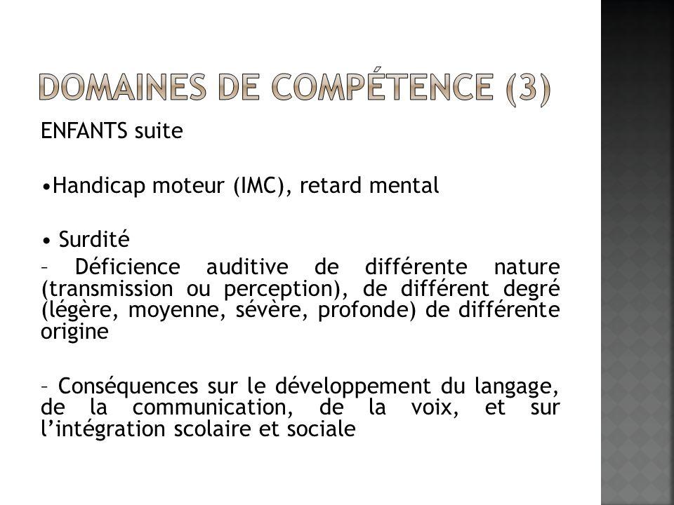 Domaines de compétence (3)